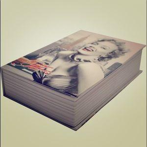 New! Marilyn Monroe Hidden Book security Safe.